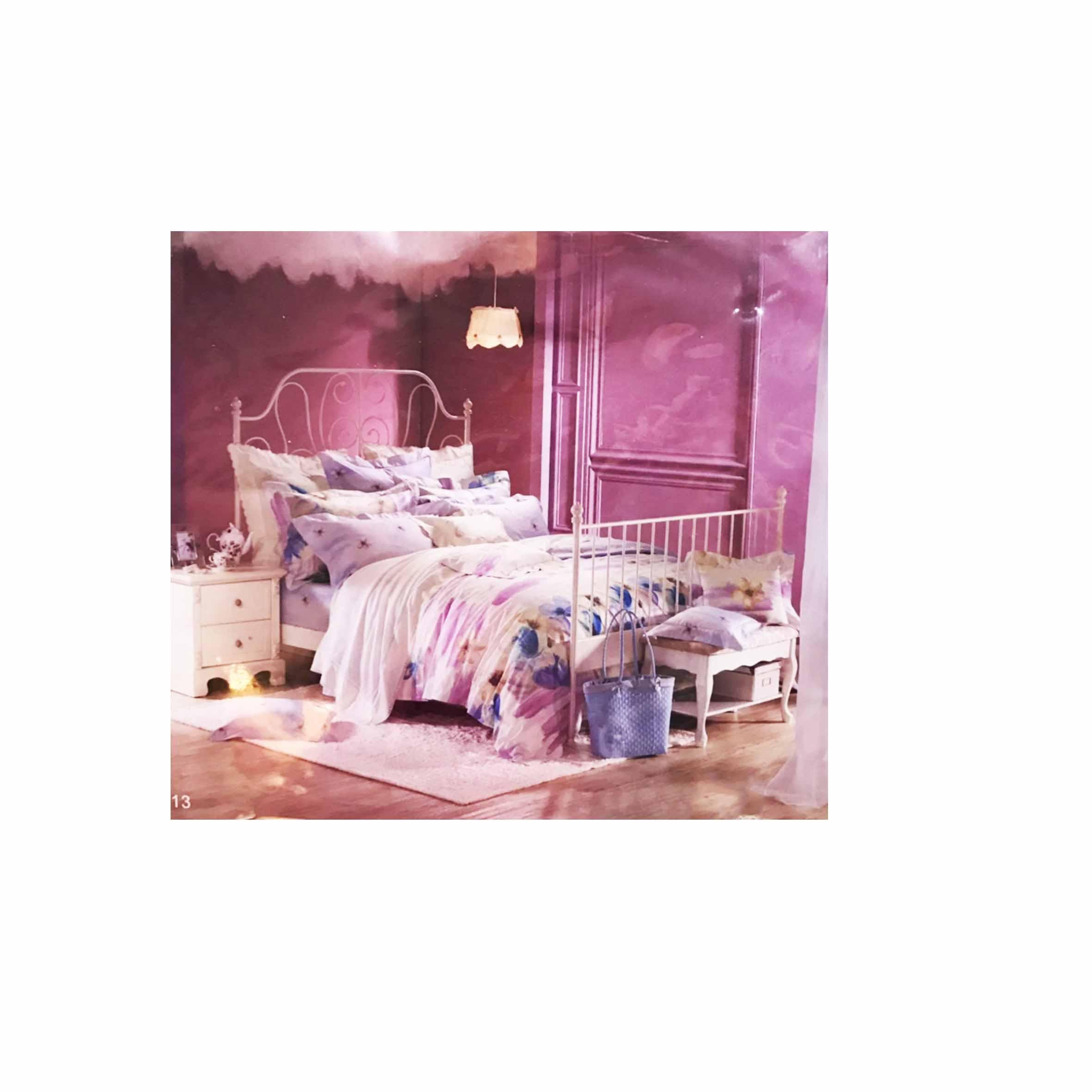 雙人鬆緊床包組 3件式 特大 6X7尺 活性印染 -夢幻