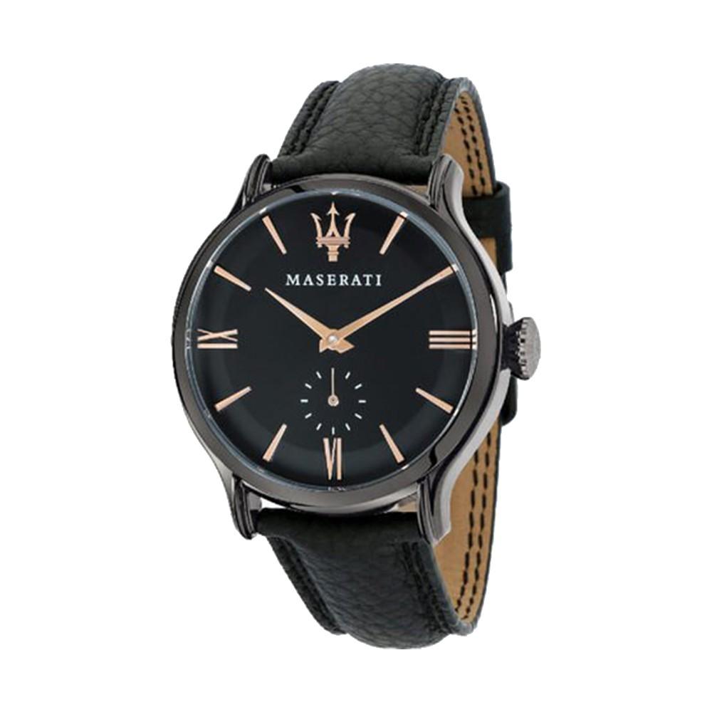 【Maserati 瑪莎拉蒂】簡約沈穩風皮帶腕錶(手錶 男錶)-R8851118004-台灣總代理公司貨-原廠保固兩年