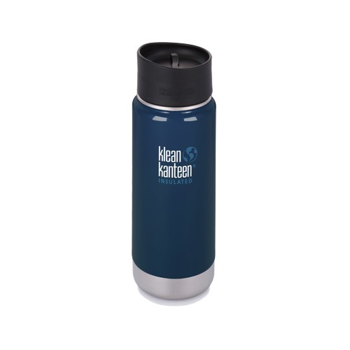 【Klean Kanteen】16oz不鏽鋼寬口咖啡蓋保溫瓶-深海藍