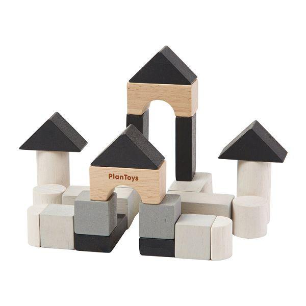 PlanToys 迷你桌遊-迷你木質城堡積木組【麗兒采家】