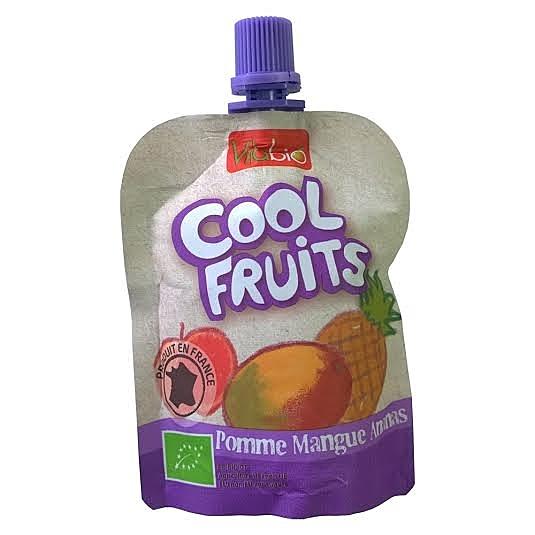 【愛吾兒】法國Vitabio 有機優鮮果-蘋果、芒果、鳳梨 12個月以上適合