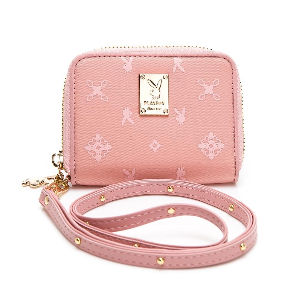 PLAYBOY 零錢包附長背帶 Floral花漾系列 粉膚色 592-1312-20-1