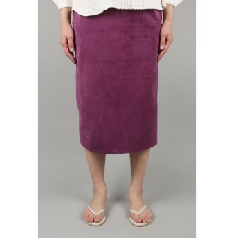 Pig suede tight skirt-PURPLE-(13RLEBOT-09TO)(c) Bluebird Boulevard(ブルーバード・ブルバード)