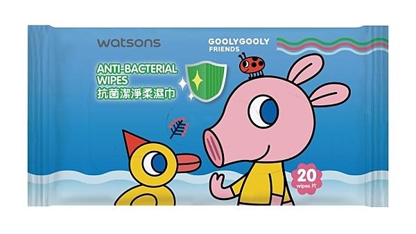 屈臣氏抗菌潔淨柔濕巾20片(GoolyGooly)