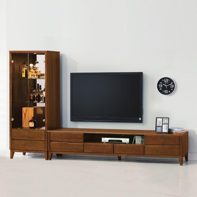 【YA413-4】米亞淺胡桃2.1尺展示櫃