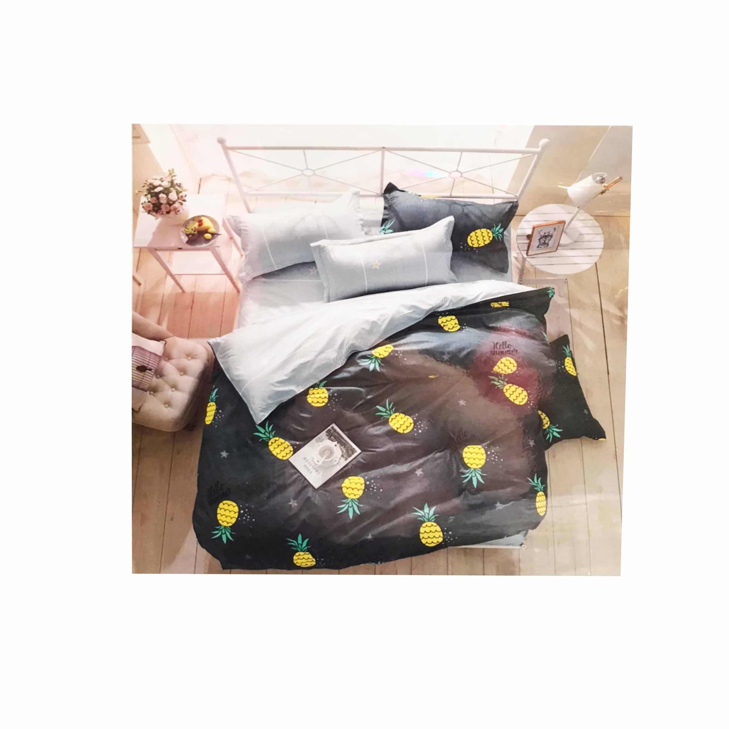 床包組 單人鬆緊床包組 2件式 3.5x6.2尺 鳳梨
