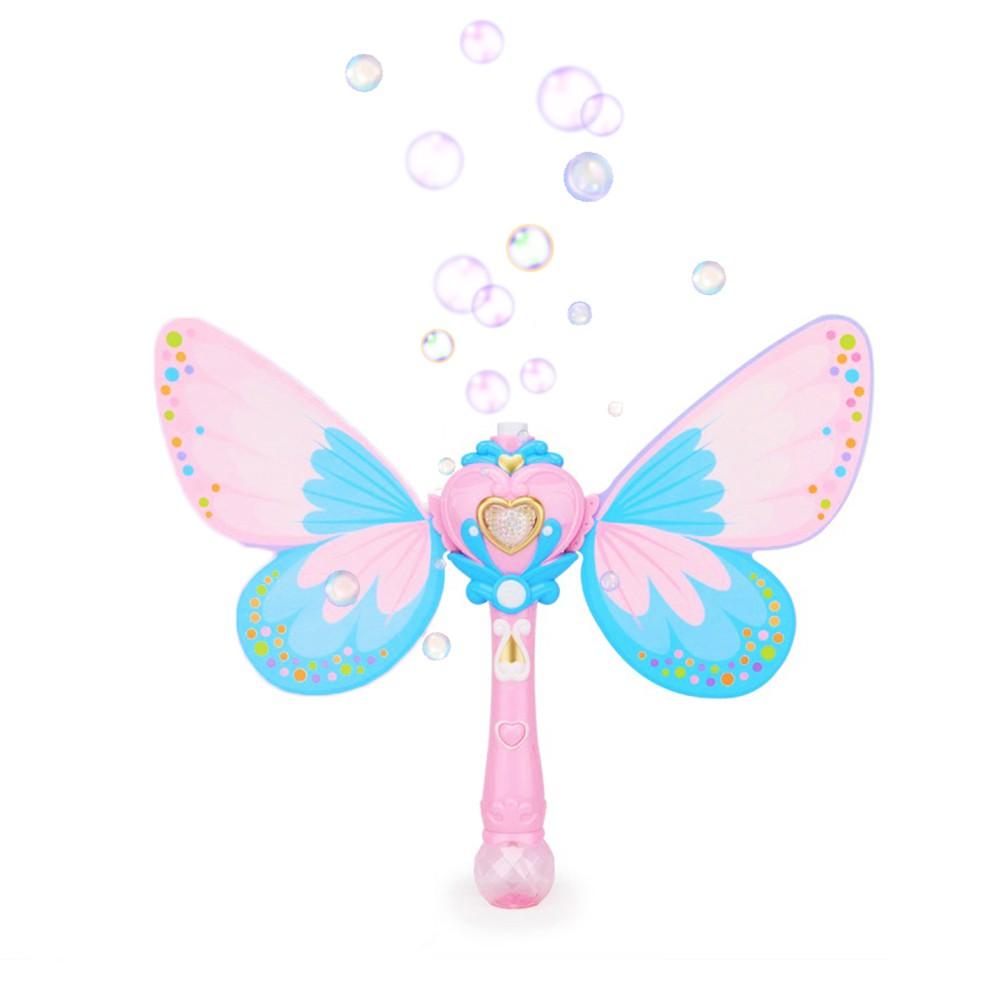 【Hi-toys】電動聲光蝴蝶泡泡魔法棒/仙女棒泡泡機