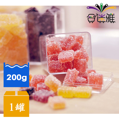 【免運直送】纖纖酵素法式軟糖-草莓+鳳梨酵素 (200g/罐)X1罐 -01