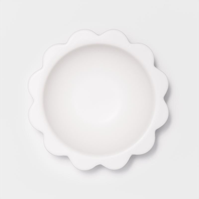 日式 嫩彩盛花 15cm 陶瓷圓碗|象牙白|單品