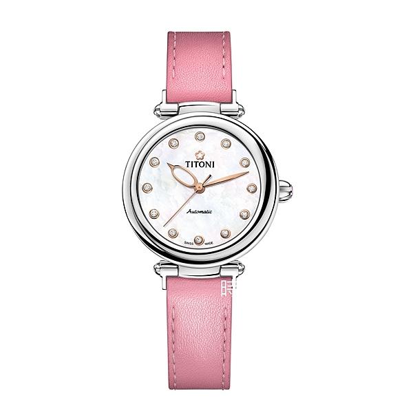 TITONI 梅花麥 瑞士 時尚機械錶(23978 S-STK-622) 快拆/薔薇粉