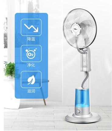220V西聯噴霧風扇家用水霧電風扇臺式辦公室加濕空氣循環扇搖頭落地扇 交換禮物 母親節禮物