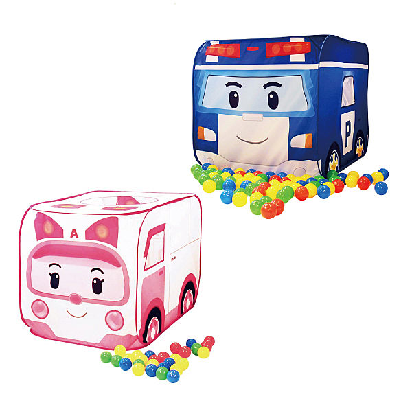 NUNUKIDS Poli 波力球池帳篷二合一遊戲屋(含50顆遊戲球)-安寶/波力