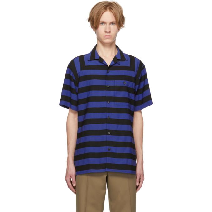 Lanvin 黑色 and 蓝色条纹保龄球衫