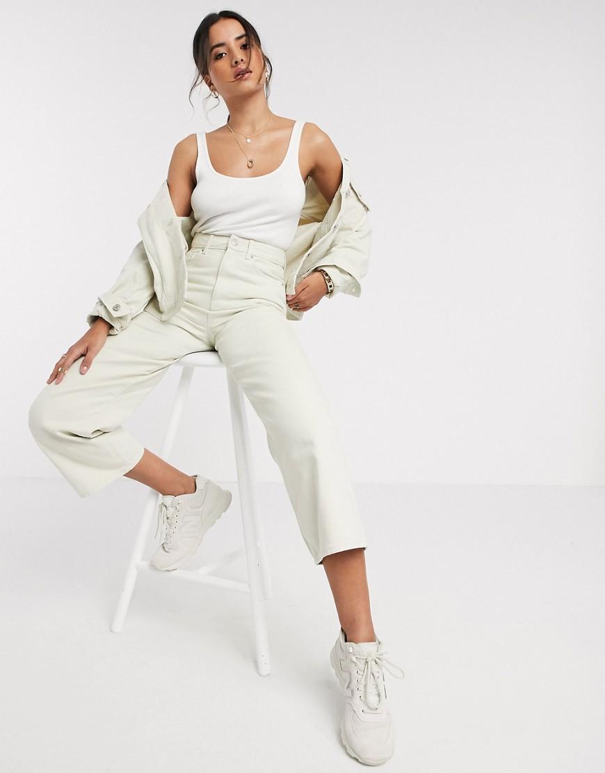 Vero Moda oversized denim jacket in ecru-Cream