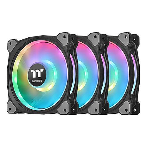 Thermaltake 曜越 Riing Duo 12 RGB 水冷排 風扇 TT Premium 頂級版 (三顆風扇包裝) CL-F073-PL12SW-A