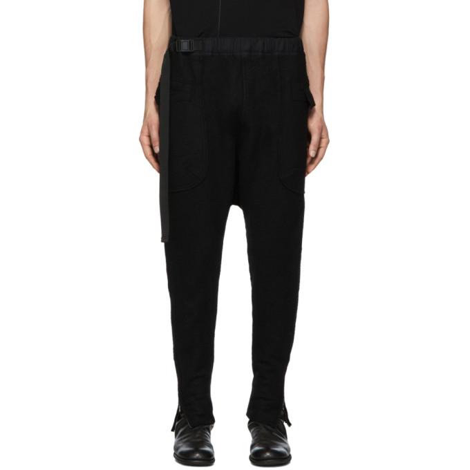 The Viridi-anne 黑色羊毛工装裤