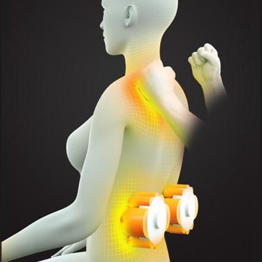 頸椎按摩器按摩靠墊全身揉捏捶打一體按摩枕頭頸部腰部肩背按摩墊 1995生活雜貨NMS 母親節禮物