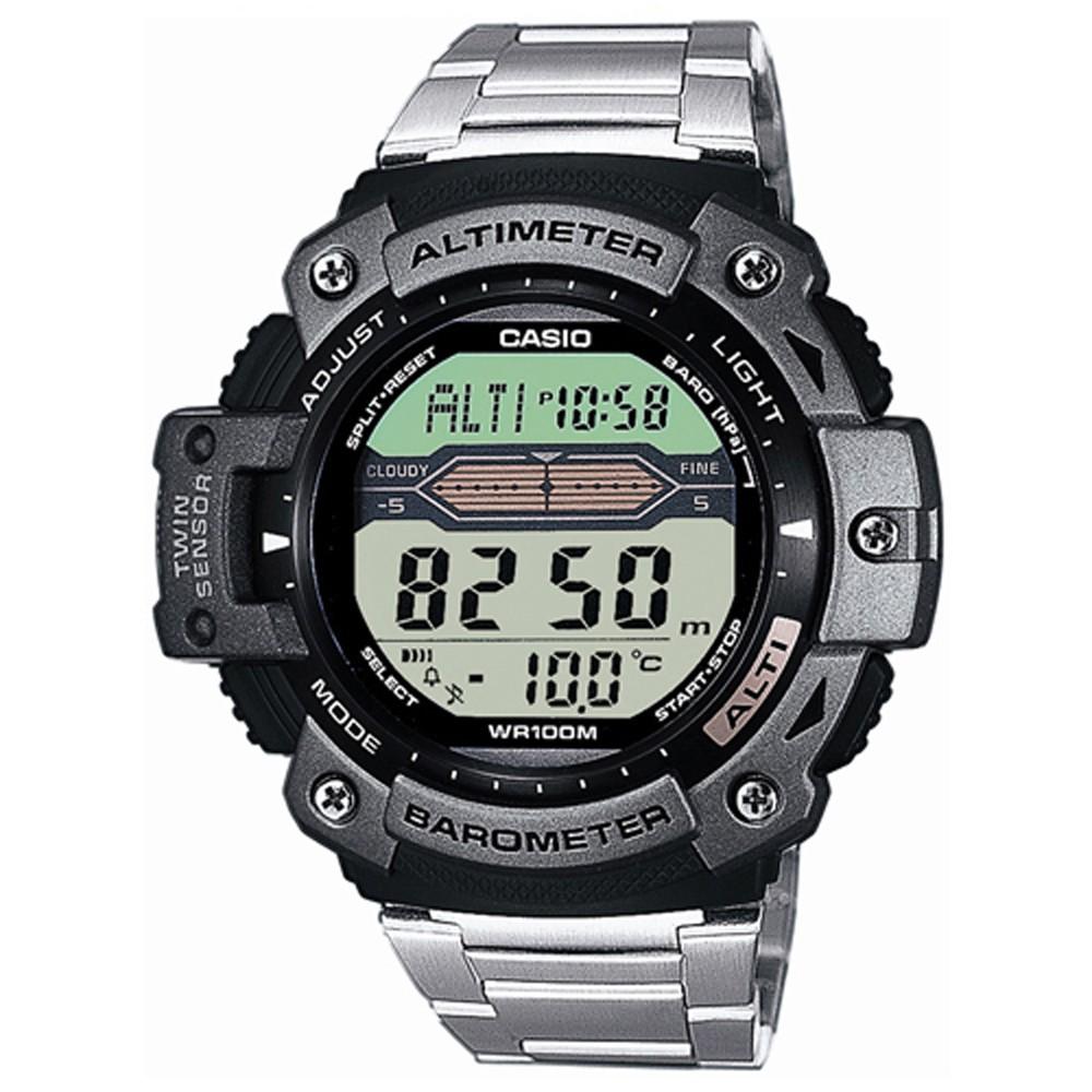 【CASIO卡西歐】登峰造極測高抗溫數位不銹鋼數位錶 ( SGW-300HD-1A )