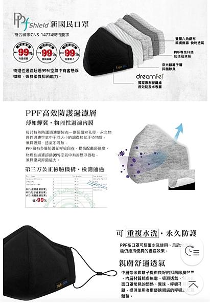 『單件750元 任選兩件798元』PPF shield 可重覆水洗 超細長纖科技布口罩 全方位5層防護