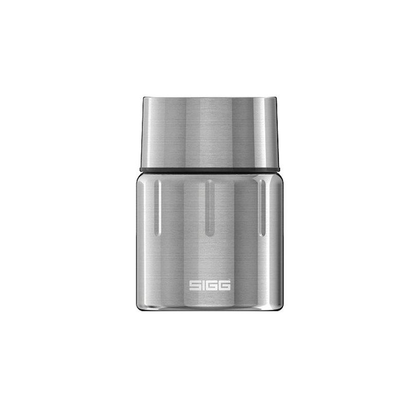 瑞士百年SIGG晶燦不鏽鋼悶燒罐(附匙)/保溫罐 500ml - 霧鋼銀