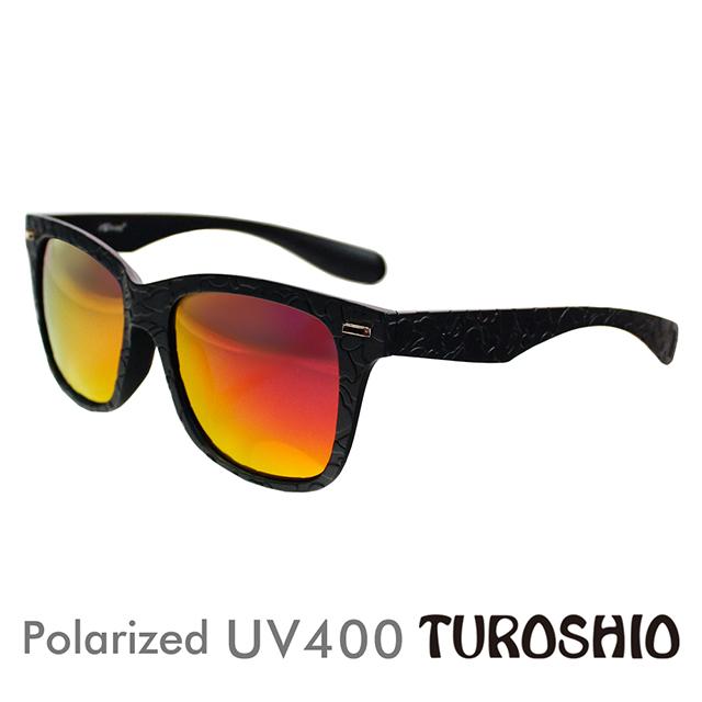 Turoshio TR90 偏光太陽眼鏡 粗框中性款 火焰紅 H80141 C1