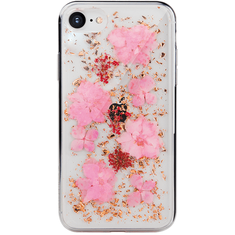 Flash 真花系列 for 2020 iPhone SE-粉花金箔 (For iPhone 6s/7/8/SE 2020 4.7吋)