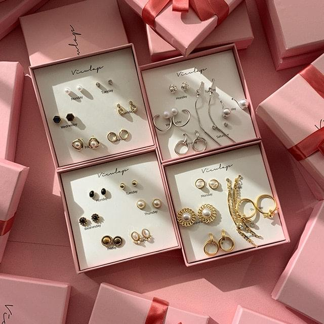 韓國空運 - One week earring gift box 耳環