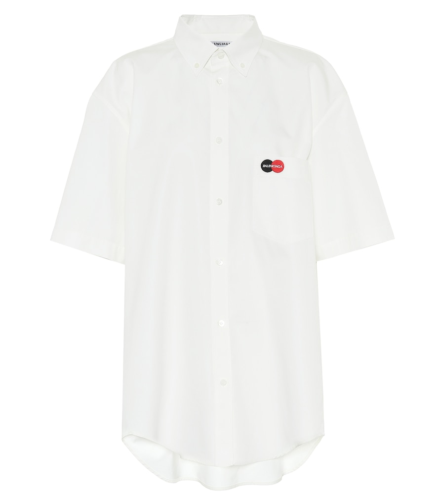 Uniform cotton-poplin shirt