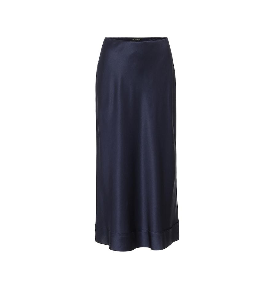 Stella silk-satin slip skirt