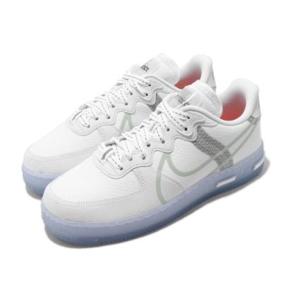 Nike 休閒鞋 Air Force 1 React 男鞋 經典款 輕量 舒適 避震 穿搭 反光 白 灰 CQ8879100