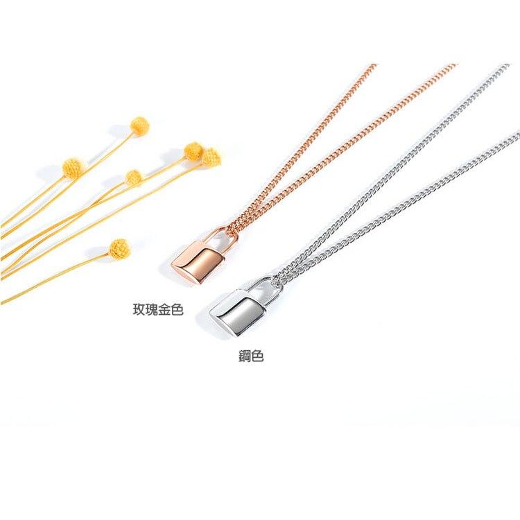 【5折超值價】時尚精美日韓簡約鎖頭造型女款鈦鋼項鍊