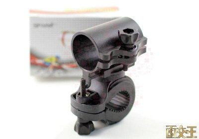 【尋寶趣】自行車/單車/音樂棒/手電筒/雷射筆 專用支架 車架 固定架 360度旋轉 可快拆 Bkf-730