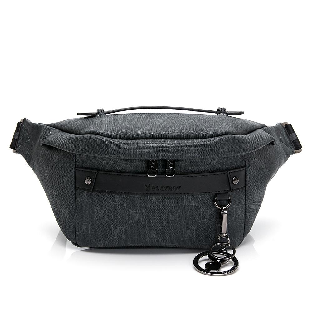 PLAYBOY 腰包可做單肩背包 evolution系列 灰色 192-8116-05-4