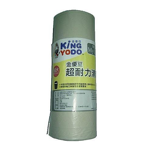 金優豆超耐力清潔垃圾袋半透明(超大)【愛買】
