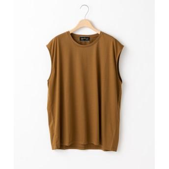Omekashi(オメカシ) レディース シルケットフレンチロングTシャツ ブラウン