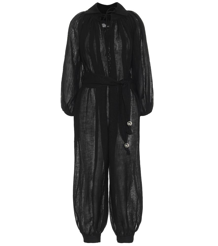 Poet linen-blend jumpsuit
