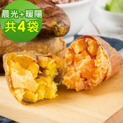 樂活e棧-晨光地瓜2袋(200g/袋)+暖陽地瓜2袋(200g/袋)