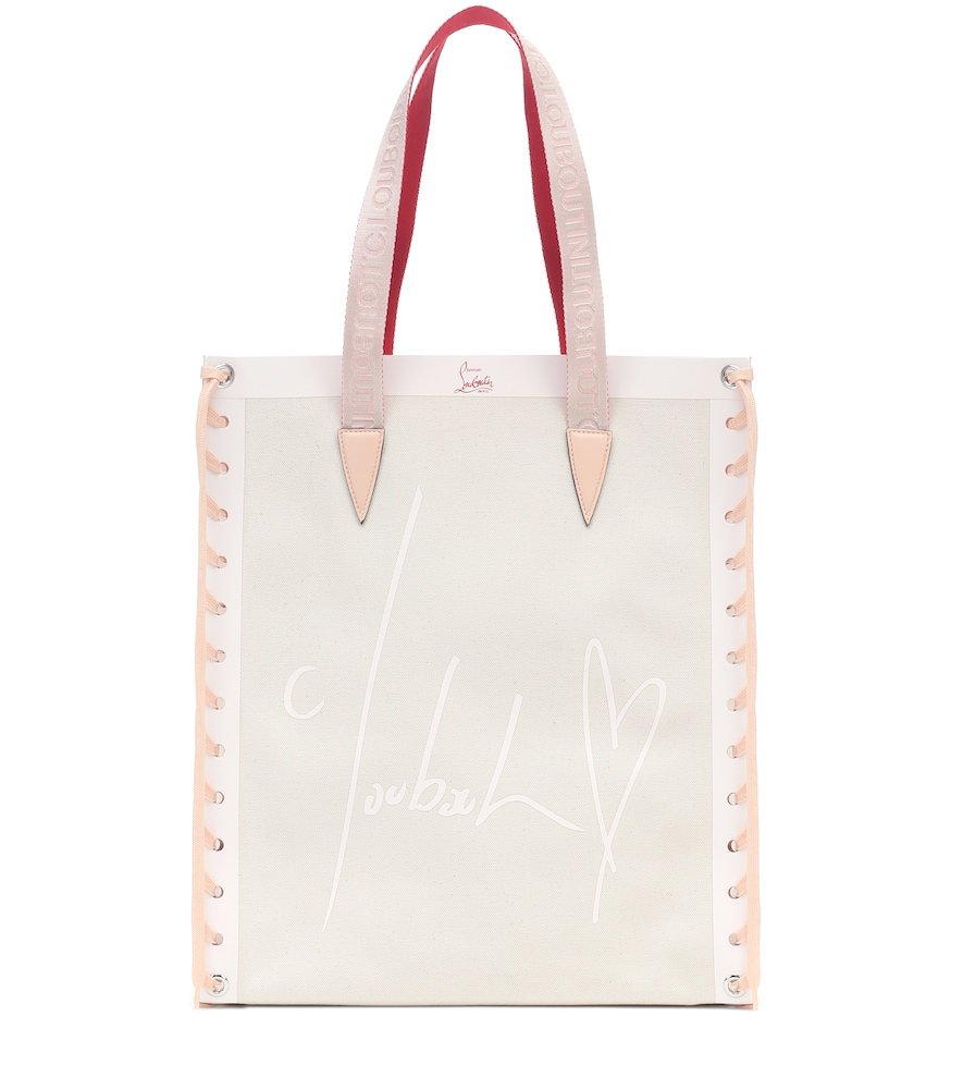 Cabalace Small leather-trimmed tote
