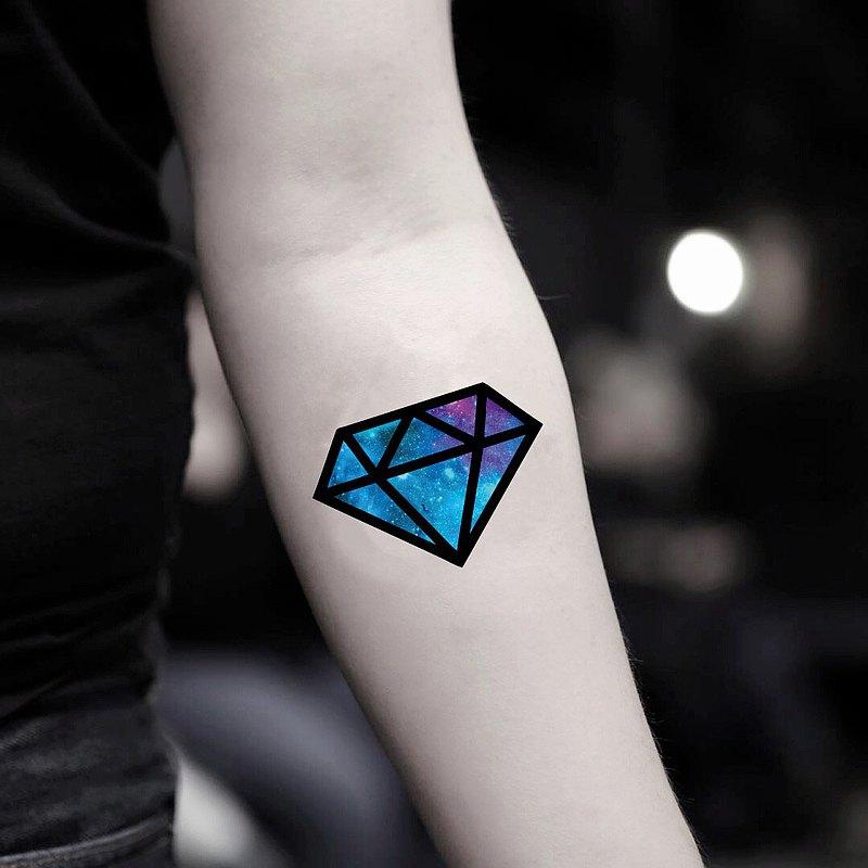 OhMyTat 銀河鑽石 Galaxy Diamond 刺青圖案紋身貼紙 (2 張)