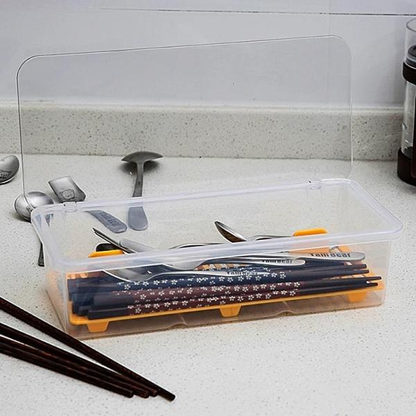 瀝水筷子盒帶蓋筷盒創意餐具家用快子勺子收納盒筷子筒筷子架 莎瓦迪卡