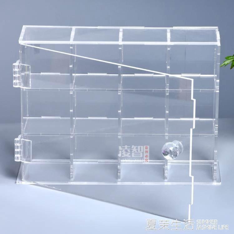 壓克力開門式展示盒透明防塵盒動漫手辦玩偶收納盒格子陳列盒定做