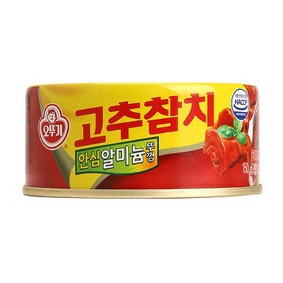 韓國 不倒翁OTTOGI 紅辣椒味鮪魚罐頭 150g
