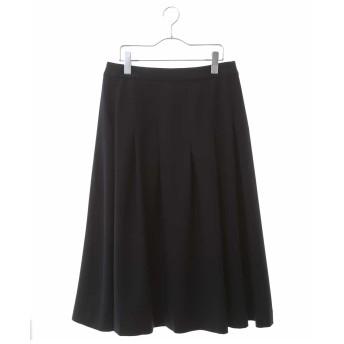 HIROKO BIS GRANDE 【洗濯機で洗える】タックフレアスカート その他 スカート,ネイビー