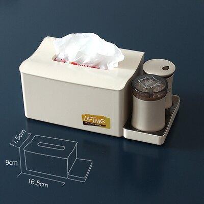 紙巾盒 創意抽紙盒餐廳歐式家用客廳衛生間紙巾盒塑料餐巾紙盒牙簽盒套裝AC11【全館免運 限時鉅惠】