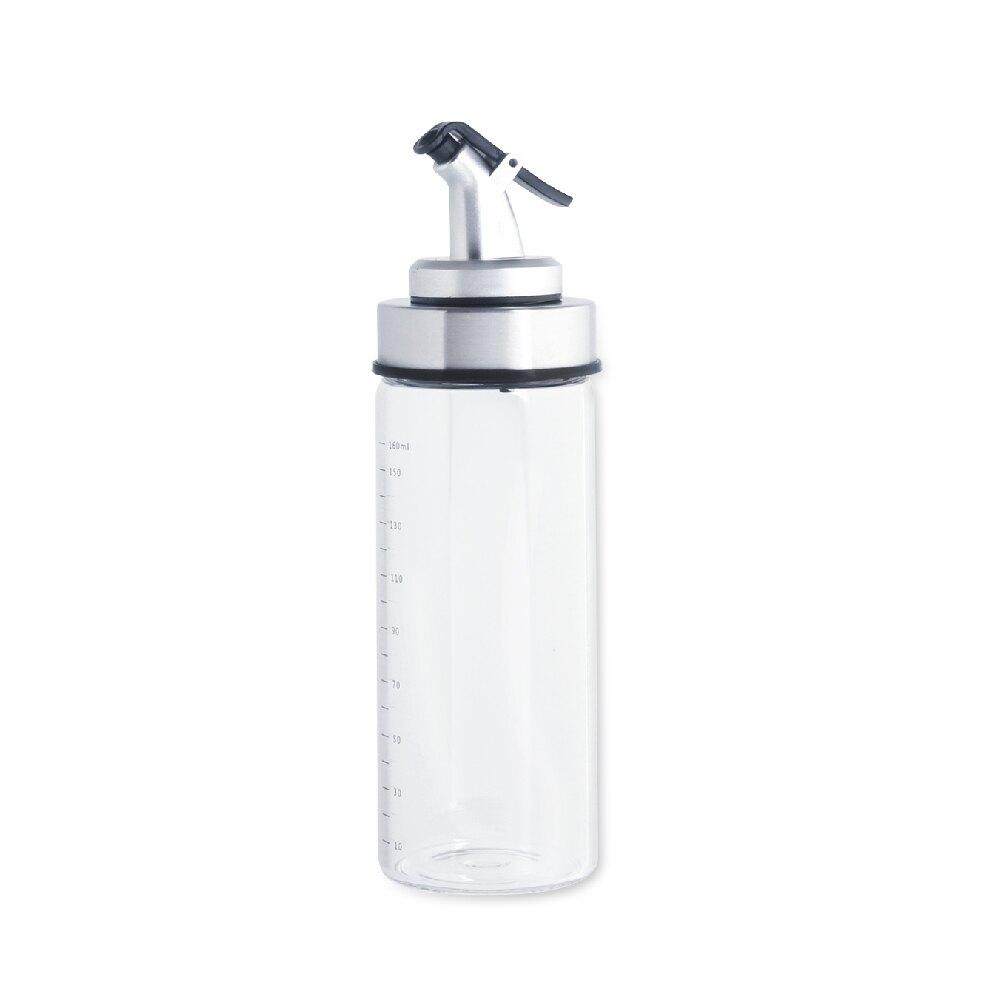 《艾克思》170ml玻璃不鏽鋼防漏防塵調味油醋瓶油壺_1入