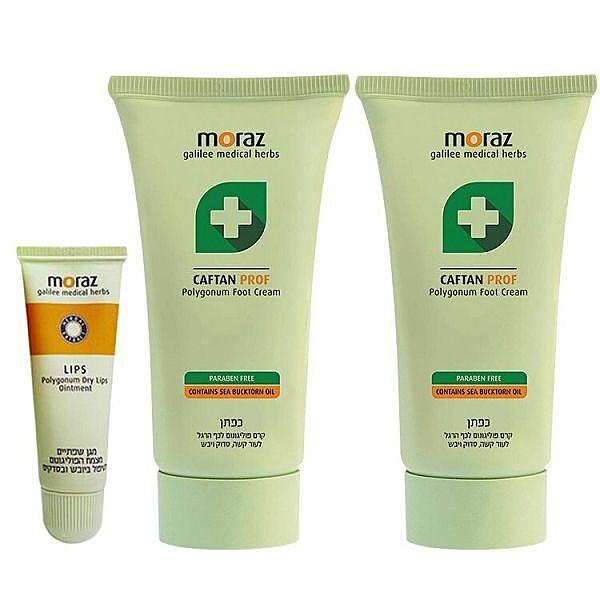 MORAZ 茉娜姿 小足升級二件組(足部修護霜50mlx2+護唇膏10mlx1)