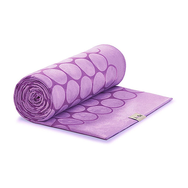 Agoy 瑜珈鋪巾 壁虎鋪巾3.0 (圈圈款) - 王子紫 (送防水收納袋)