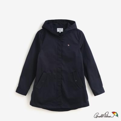 Arnold Palmer-女裝-後綁帶細節長版風衣外套-藍