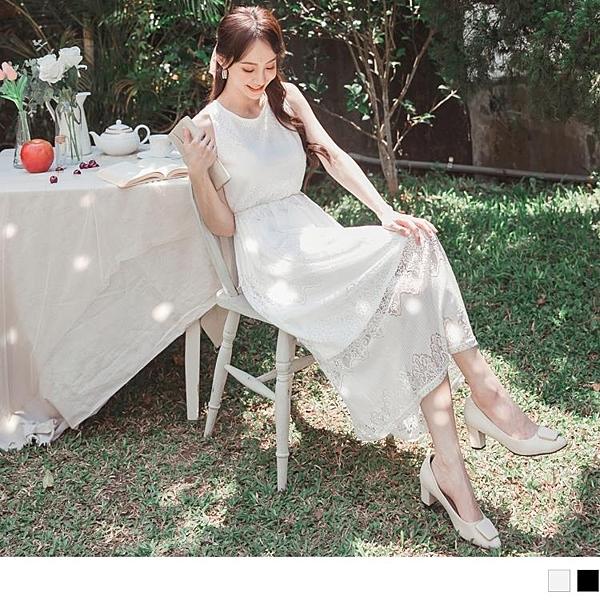 《DA7545》自助婚紗系列.優雅漸層鏤空蕾絲收腰無袖長洋裝 OrangeBear