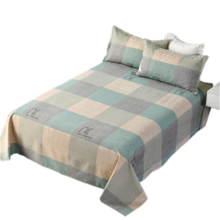 床單 加厚純棉老粗布床單單件全棉帆布涼席雙人1.5M1.8單人1.2米三件套